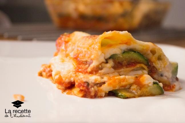 lasagne chèvre courgette